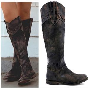 NEW Bed Stu Midge Tall Leather Boots Boho 6
